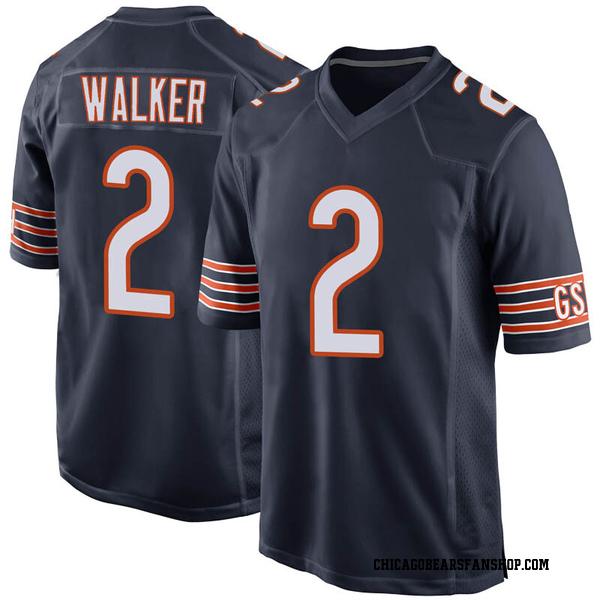 Men's Joe Walker Chicago Bears Game Navy Team Color Jersey