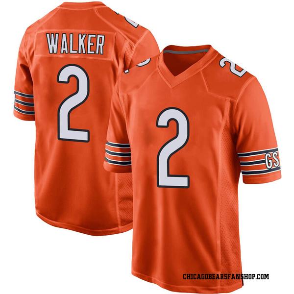 Men's Joe Walker Chicago Bears Game Orange 100th Season Jersey