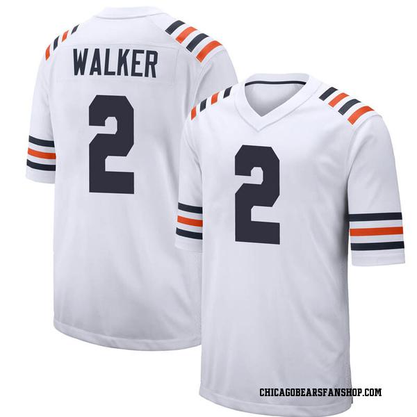 Men's Joe Walker Chicago Bears Game White Alternate Classic 100th Season Jersey