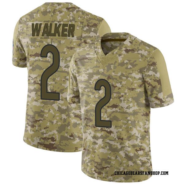 Men's Joe Walker Chicago Bears Limited Camo 2018 Salute to Service Jersey