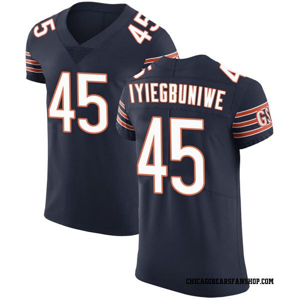 Men's Joel Iyiegbuniwe Chicago Bears Elite Navy Team Color Vapor Untouchable Jersey