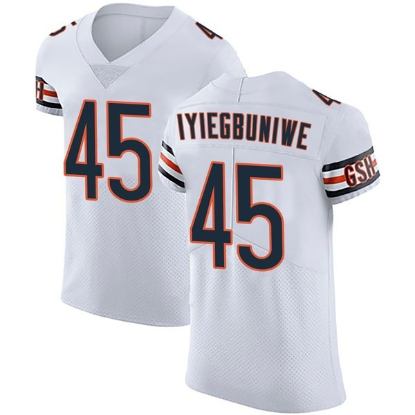 Men's Joel Iyiegbuniwe Chicago Bears Elite White Vapor Untouchable Jersey