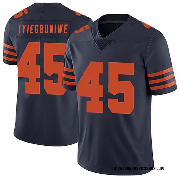 Men's Joel Iyiegbuniwe Chicago Bears Limited Navy Blue Alternate Vapor Untouchable Jersey