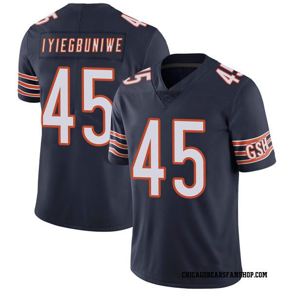 Men's Joel Iyiegbuniwe Chicago Bears Limited Navy Team Color Vapor Untouchable Jersey