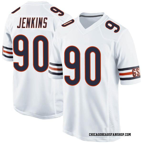 Men's John Jenkins Chicago Bears Game White Jersey