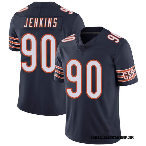 Men's John Jenkins Chicago Bears Limited Navy Team Color Vapor Untouchable Jersey