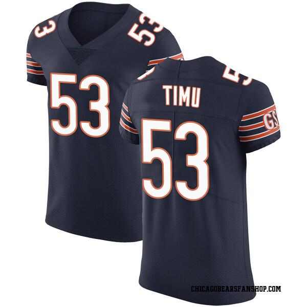 Men's John Timu Chicago Bears Elite Navy Team Color Vapor Untouchable Jersey