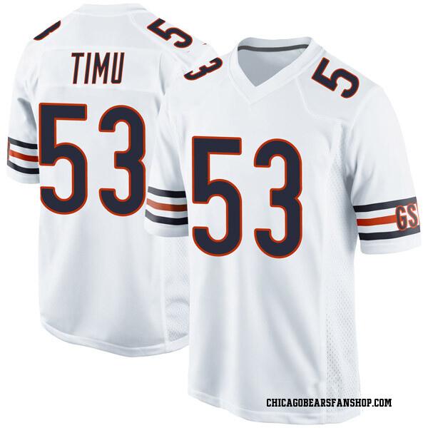 Men's John Timu Chicago Bears Game White Jersey