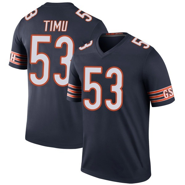 Men's John Timu Chicago Bears Legend Navy Color Rush Jersey