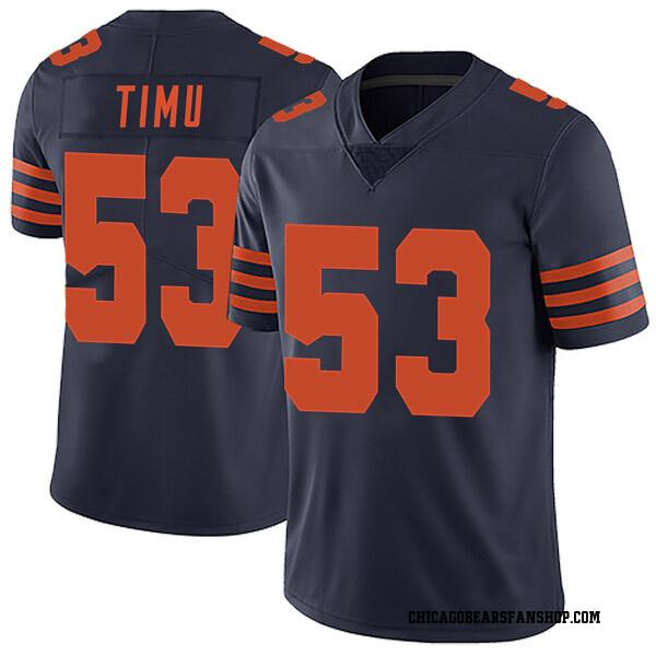 Men's John Timu Chicago Bears Limited Navy Blue Alternate Vapor Untouchable Jersey