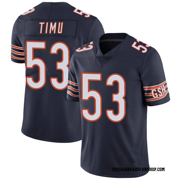 Men's John Timu Chicago Bears Limited Navy Team Color Vapor Untouchable Jersey