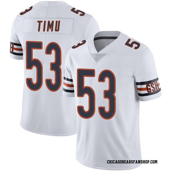 Men's John Timu Chicago Bears Limited White Vapor Untouchable Jersey