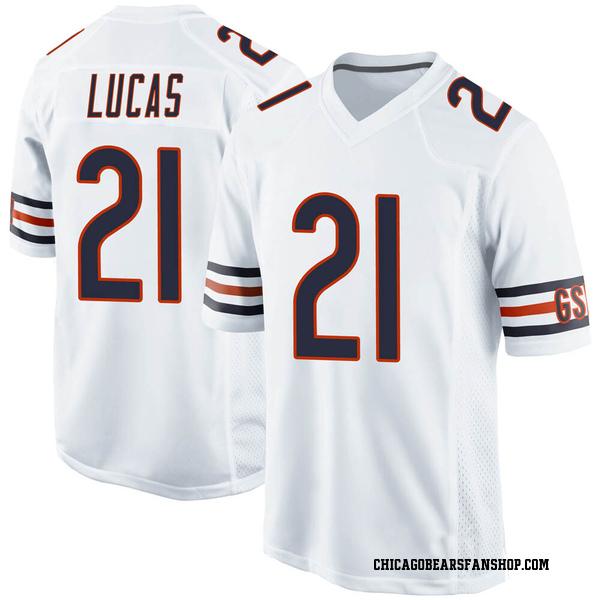 Men's Jordan Lucas Chicago Bears Game White Jersey