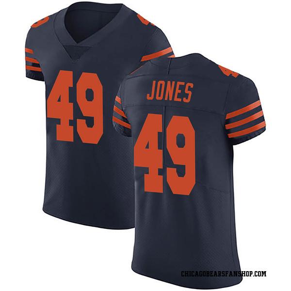 Men's Keandre Jones Chicago Bears Elite Navy Blue Alternate Vapor Untouchable Jersey