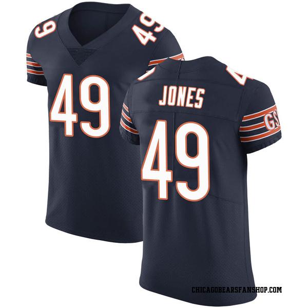 Men's Keandre Jones Chicago Bears Elite Navy Team Color Vapor Untouchable Jersey