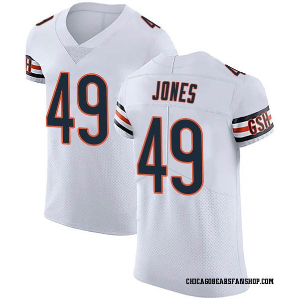 Men's Keandre Jones Chicago Bears Elite White Vapor Untouchable Jersey