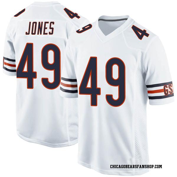 Men's Keandre Jones Chicago Bears Game White Jersey