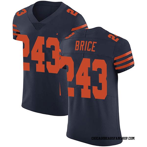 Men's Kentrell Brice Chicago Bears Elite Navy Blue 3 Alternate Vapor Untouchable Jersey