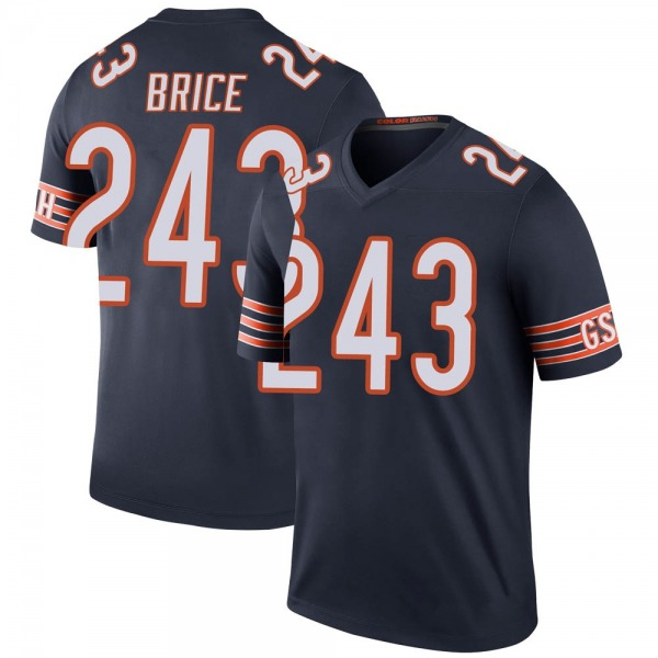 Men's Kentrell Brice Chicago Bears Legend Navy 3 Color Rush Jersey
