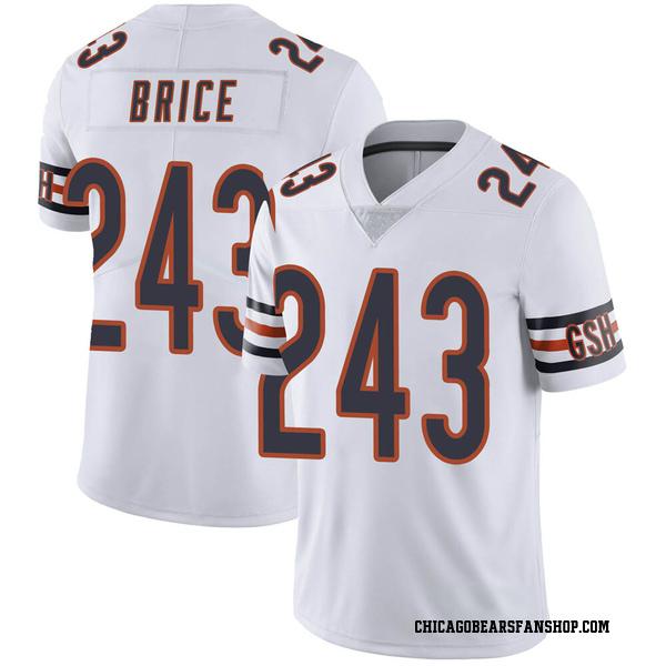Men's Kentrell Brice Chicago Bears Limited White 3 Vapor Untouchable Jersey