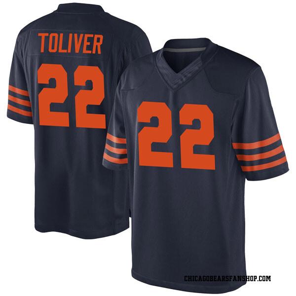 Men's Kevin Toliver Chicago Bears Game Navy Blue Alternate Jersey