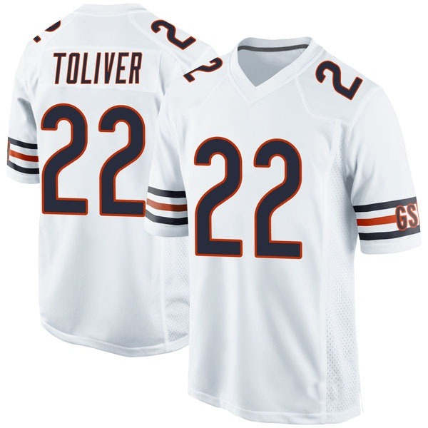 Men's Kevin Toliver Chicago Bears Game White Jersey