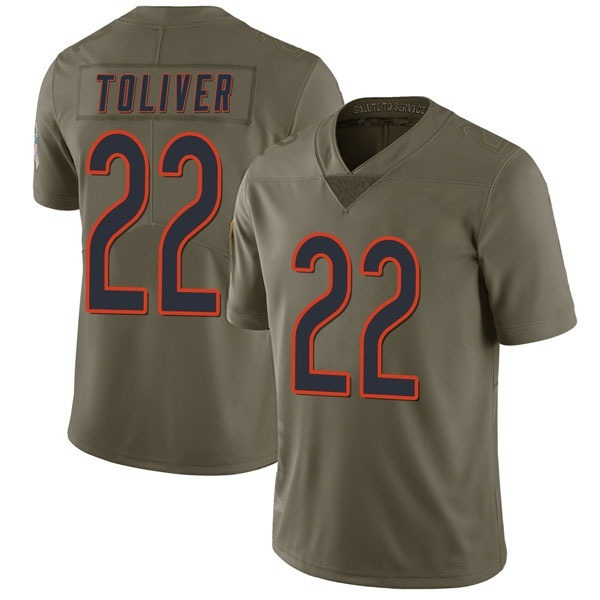 Men's Kevin Toliver Chicago Bears Limited Green 2017 Salute to Service Jersey