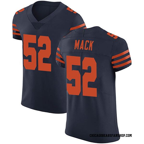 Men's Khalil Mack Chicago Bears Elite Navy Blue Alternate Vapor Untouchable Jersey