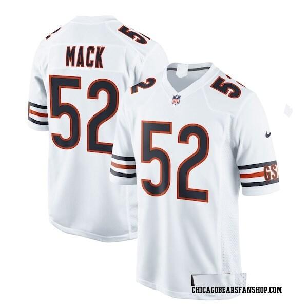 Men's Khalil Mack Chicago Bears Game White Jersey