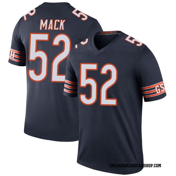 Men's Khalil Mack Chicago Bears Legend Navy Color Rush Jersey