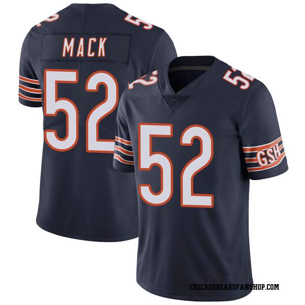 Men's Khalil Mack Chicago Bears Limited Navy Team Color Vapor Untouchable Jersey