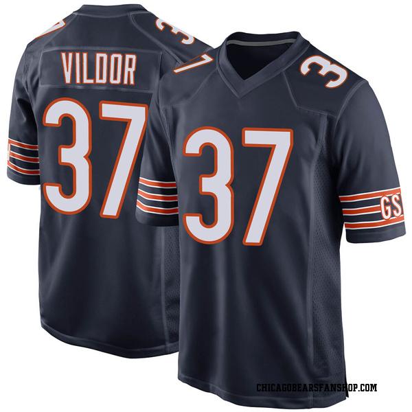 Men's Kindle Vildor Chicago Bears Game Navy Team Color Jersey