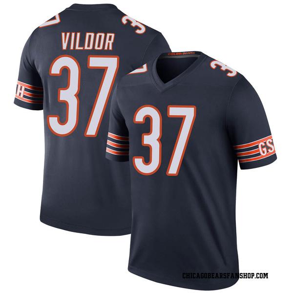 Men's Kindle Vildor Chicago Bears Legend Navy Color Rush Jersey