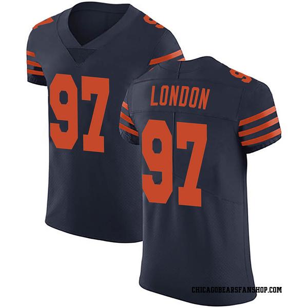 Men's LaCale London Chicago Bears Elite Navy Blue Alternate Vapor Untouchable Jersey