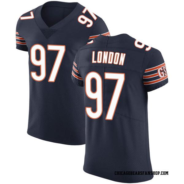 Men's LaCale London Chicago Bears Elite Navy Team Color Vapor Untouchable Jersey