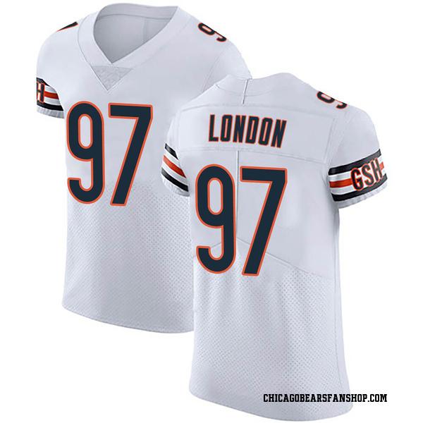 Men's LaCale London Chicago Bears Elite White Vapor Untouchable Jersey