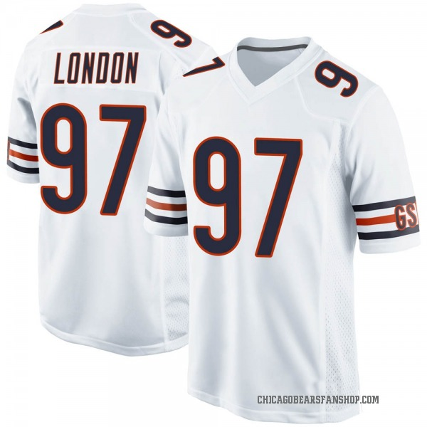 Men's LaCale London Chicago Bears Game White Jersey