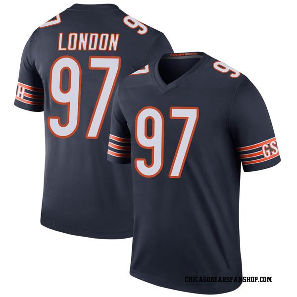 Men's LaCale London Chicago Bears Legend Navy Color Rush Jersey