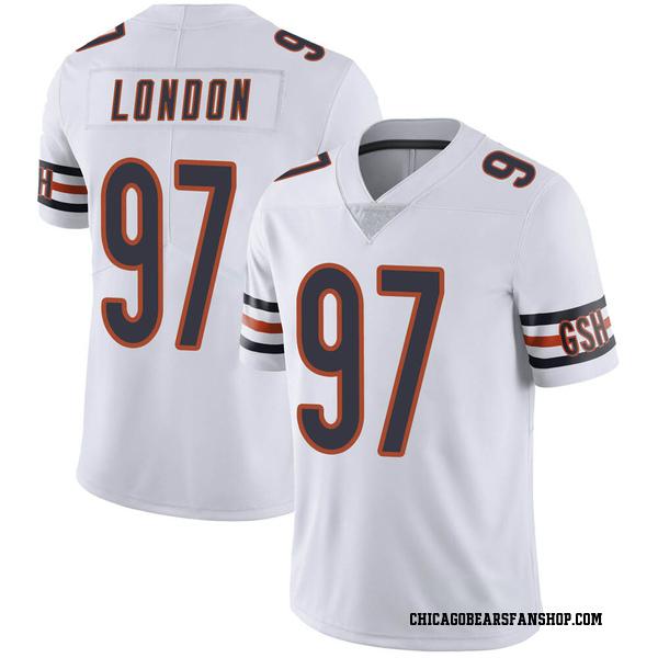 Men's LaCale London Chicago Bears Limited White Vapor Untouchable Jersey
