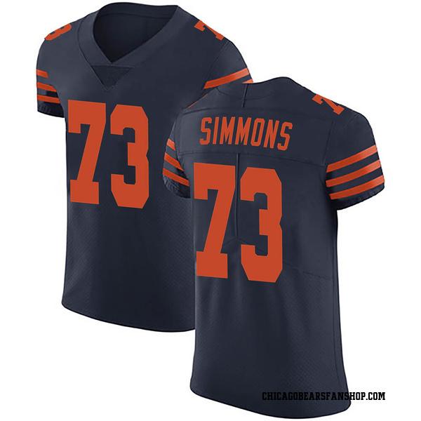 Men's Lachavious Simmons Chicago Bears Elite Navy Blue Alternate Vapor Untouchable Jersey