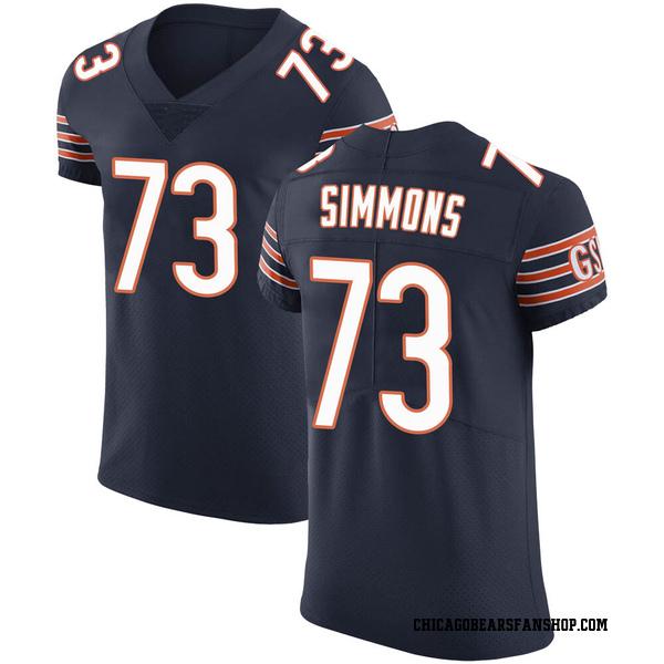 Men's Lachavious Simmons Chicago Bears Elite Navy Team Color Vapor Untouchable Jersey