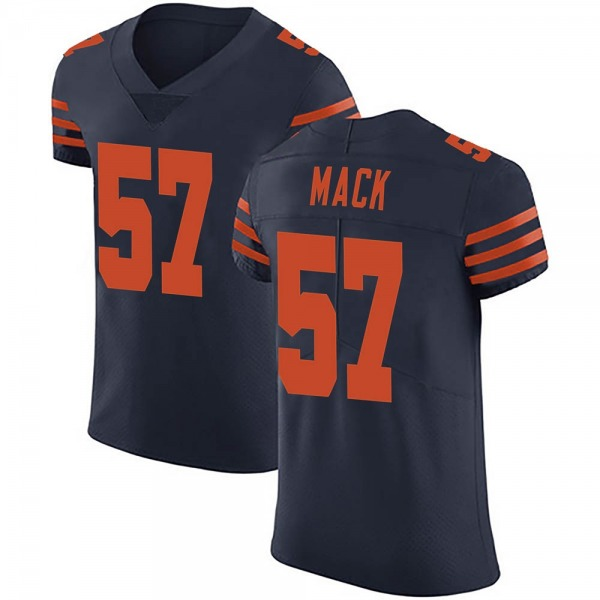 Men's Ledarius Mack Chicago Bears Elite Navy Blue Alternate Vapor Untouchable Jersey
