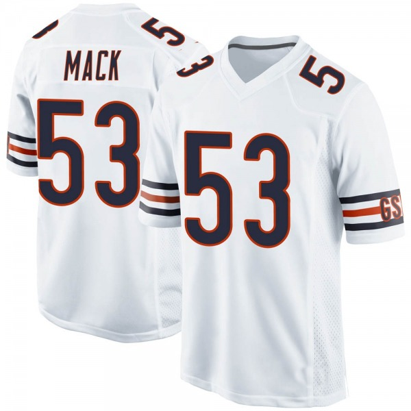 Men's Ledarius Mack Chicago Bears Game White Jersey