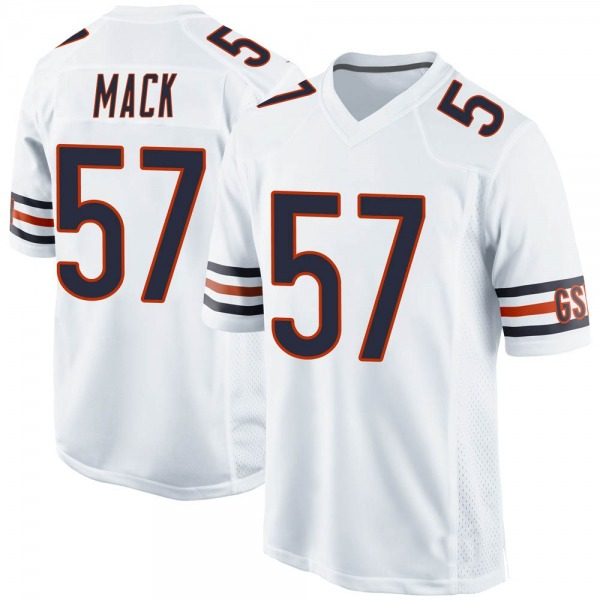 Men's Ledarius Mack Chicago Bears Game White Jersey