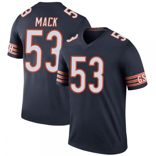 Men's Ledarius Mack Chicago Bears Legend Navy Color Rush Jersey