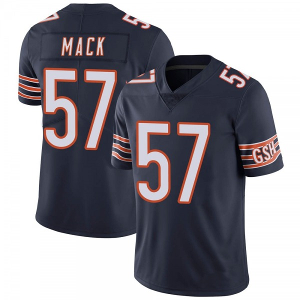Men's Ledarius Mack Chicago Bears Limited Navy Team Color Vapor Untouchable Jersey