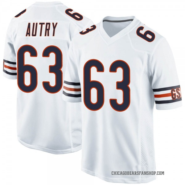Men's Lee Autry Chicago Bears Game White Jersey