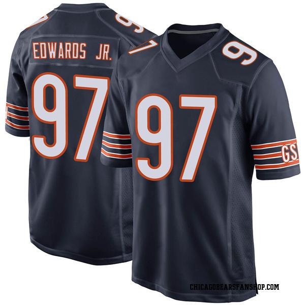 Youth Mario Edwards Jr. Chicago Bears Game Navy 100th Season Jersey