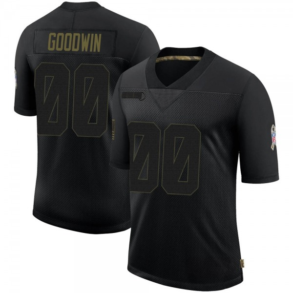 Men's Marquise Goodwin Chicago Bears Limited Black 2020 Salute To Service Jersey