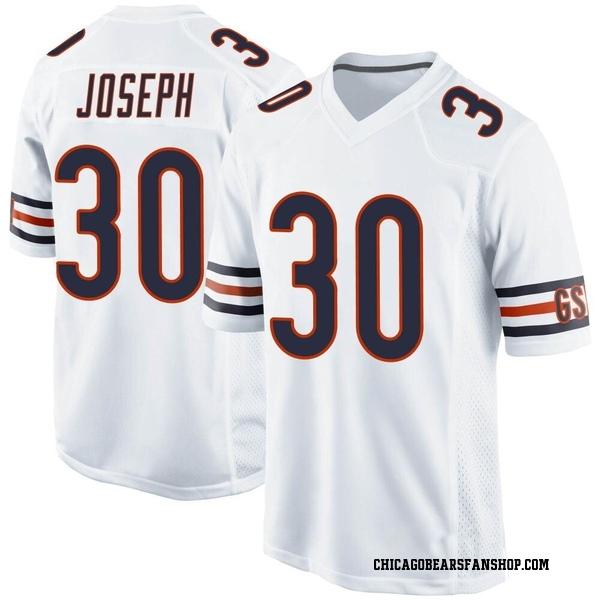 Men's Michael Joseph Chicago Bears Game White Jersey